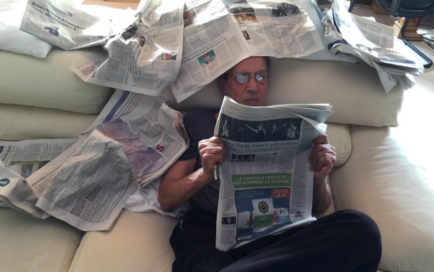 Adriano e i giornali
