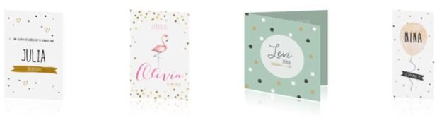Geboortekaartjes met confetti - AllinMam.com