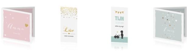 Geboortekaartjes met gouden accent - AllinMam.com