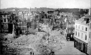The Ruins of Louvain. 248 Dead. Thousands on the Run