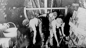 """Manchester's Edwardian sewer builders, who became known as the """"First Moles"""" due to their WWI tunnel digging"""