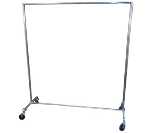Pipe Racks : Single-Tier Chrome 1 inch Diameter Rack