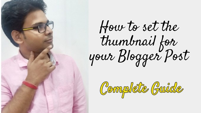 set the thumbnail for your Blogger Post