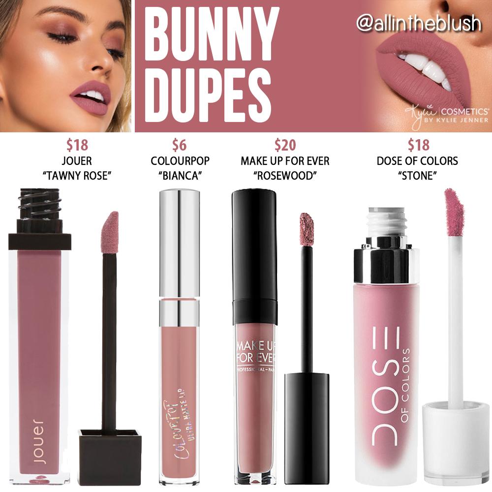 Kylie Cosmetics Bunny Lipstick Dupes [Koko Kollection 2]