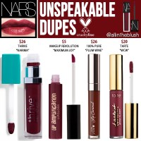 NARS Unspeakable Velvet Lip Glide Cruelty-Free Dupes