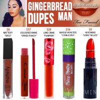 Too Faced Gingerbread Man Melted Matte Liquid Lipstick Dupes