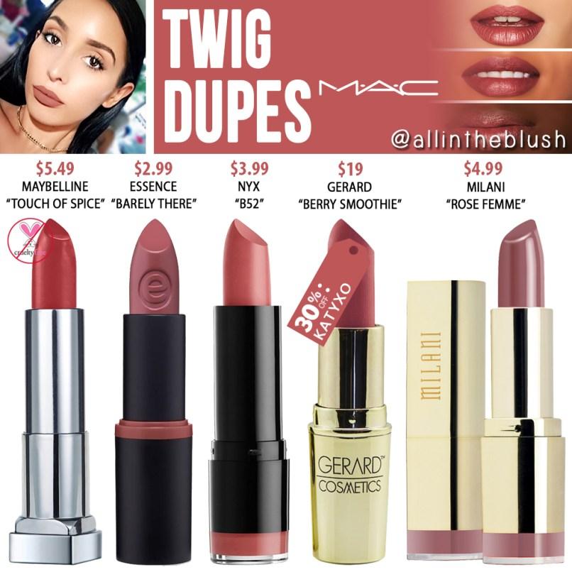 Mac Twig Lipstick Dupe Nyx   Lipstutorial org