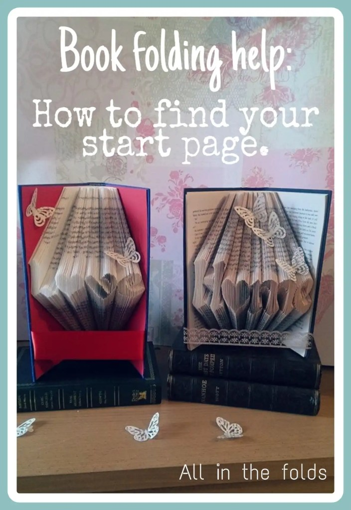 showing how to centralise a book folding pattern