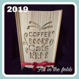 coffee, books, cats, naps pattern