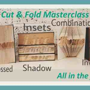 Cut and fold methods vidual with tags