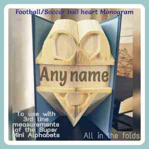 Football soccer heart super mini alphabets