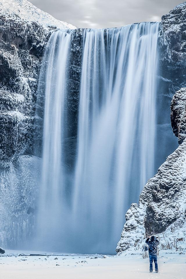 Iphone 6 Holiday Wallpaper Frozen Waterfall Iphone Wallpaper Hd