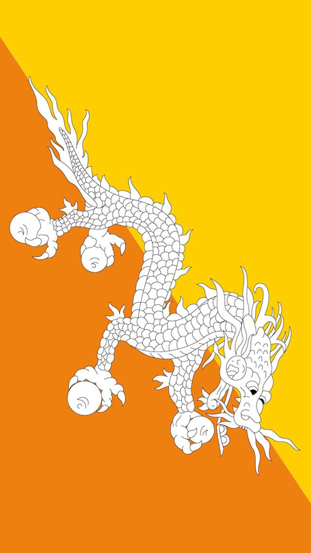 Iphone 5s Shelf Wallpaper Bhutan Flag Iphone Wallpaper Hd