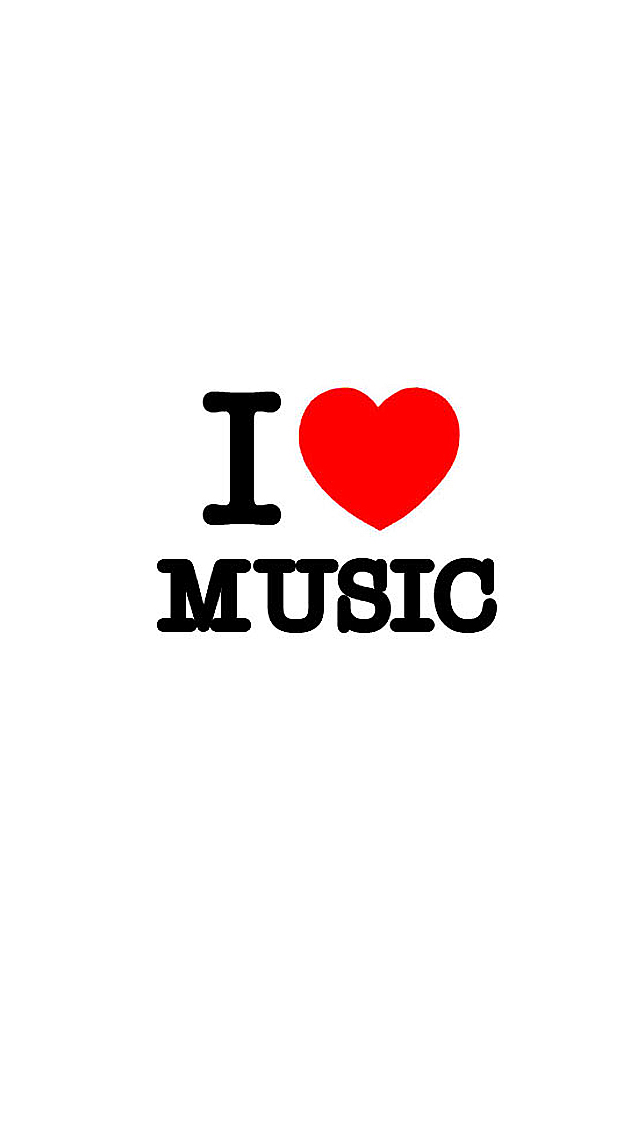 I Love Music iPhone Wallpaper HD