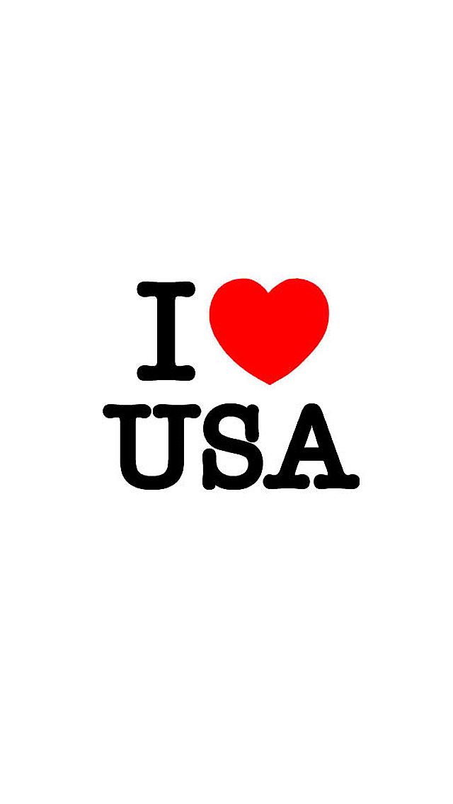I Love USA iPhone Wallpaper HD