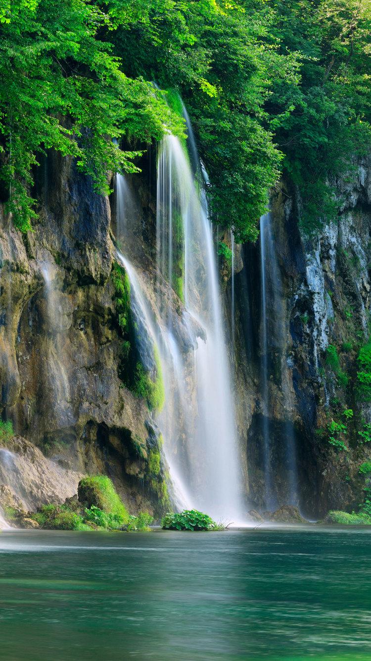 Iphone 4s Anime Wallpaper Waterfalls Iphone Wallpaper Hd
