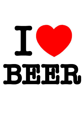 Download I Love Beer iPhone Wallpaper HD