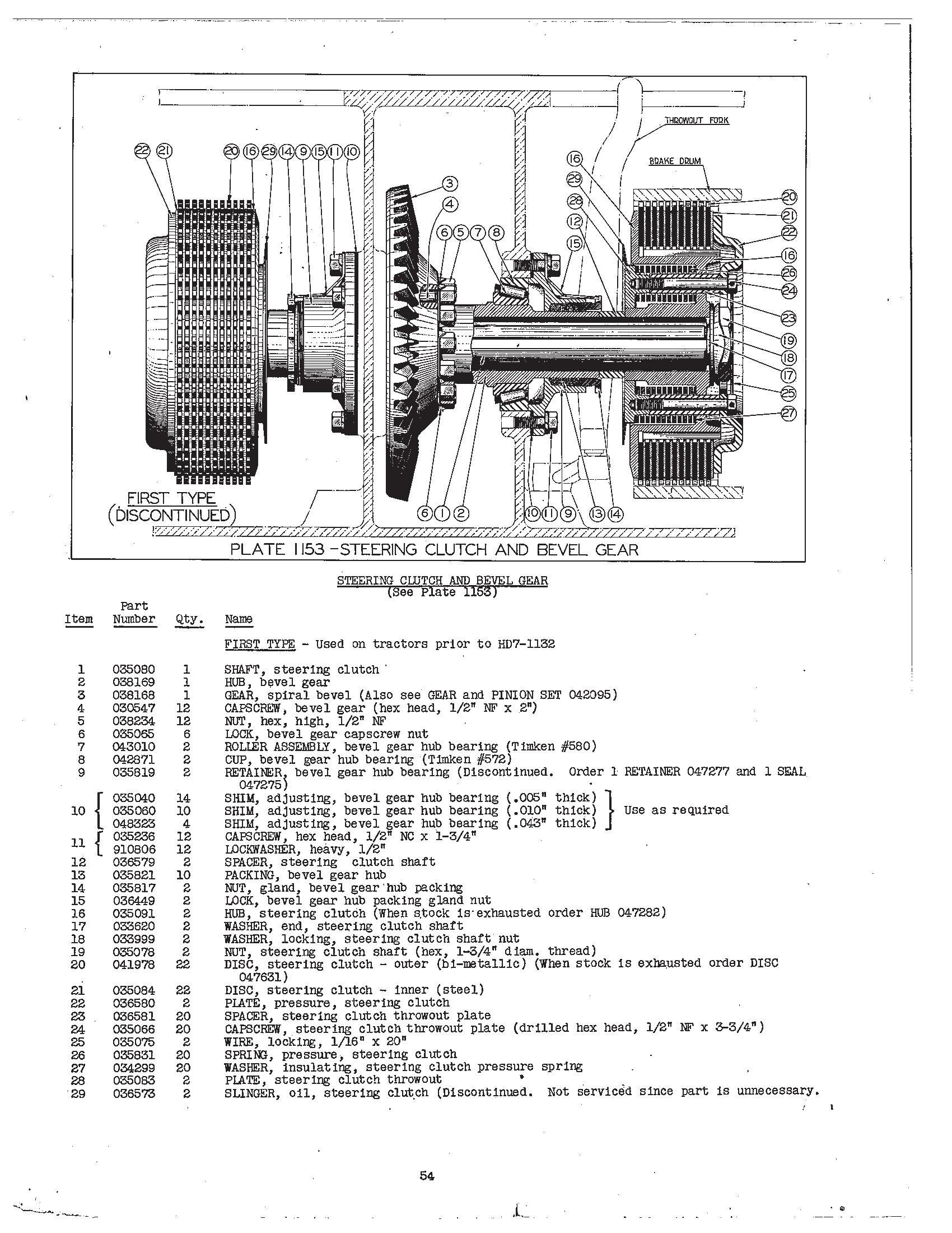 Allis Chalmers Hd6 Dozer Parts Diagram. Allis. Tractor