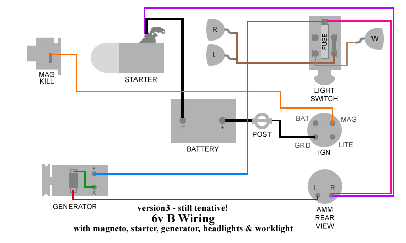 wiring diagram for allis b 6v to 12v wiring diagram