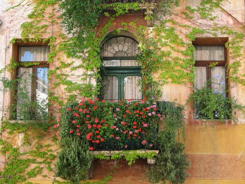 Balcony, Marostica, Italy