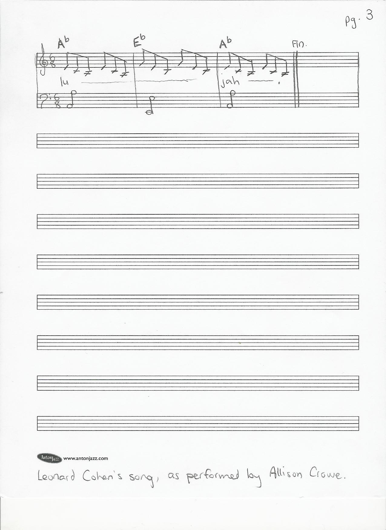 Hallelujah Leonard Cohen Cello Sheet Music Free
