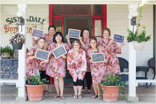sisterdale dancehall spring wedding bridesmaids first look
