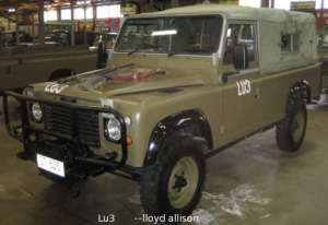 LandRover Perentie 4x4 and 6x6, designed for the Australian Army