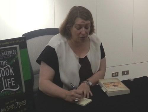 Deborah Harkness signing book
