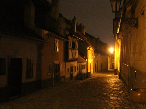 Golden Lane at night