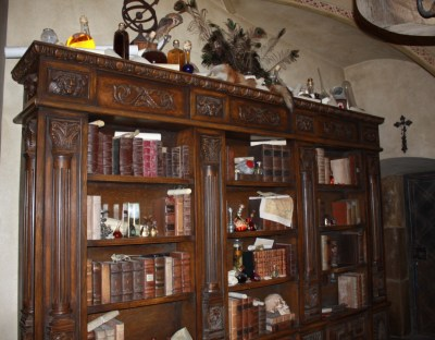 Cabinet of curiosities and bookcase