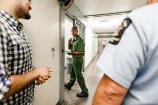 Johnson waves and smiles as we part ways: him to his cell block and us towards the outside world.