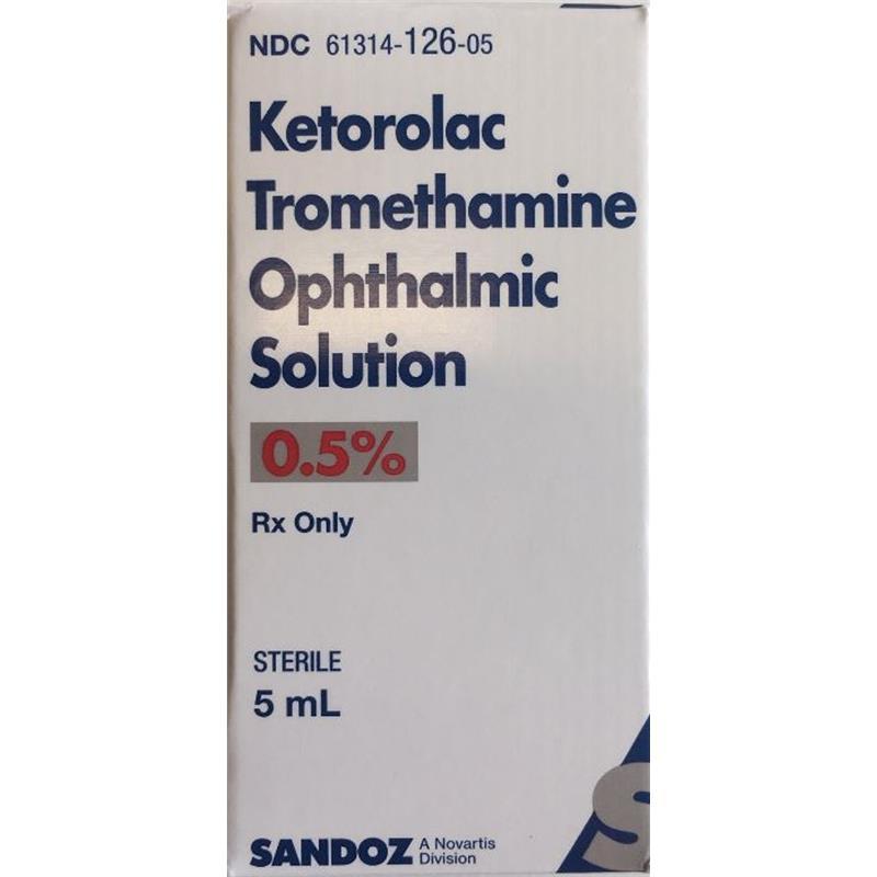 Ketorolac Tromethamine 0.5% Ophthalmic Solution