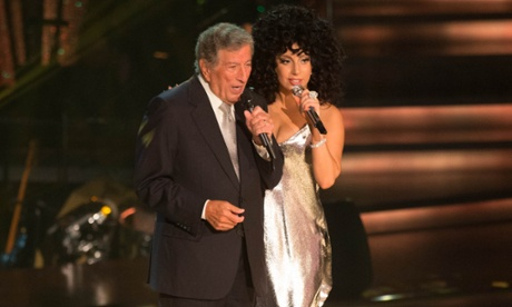 Anything doesn't go … Tony Bennett and Lady Gaga perform together on BBC1's Strictly Come Dancing. Photograph: Guy Levy/BBC/PA