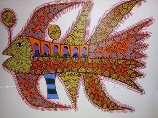 Aeroplane Bhil Art