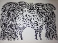 Stag Bhil Art