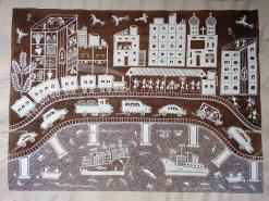 Warli Urban Life Painting