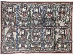 Dashavatara -Ten Incarnations of Lord Vishnu Madhubani Painting