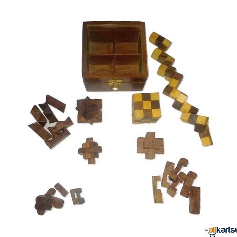 Sheesham Wood Puzzle Game (Set of 4)