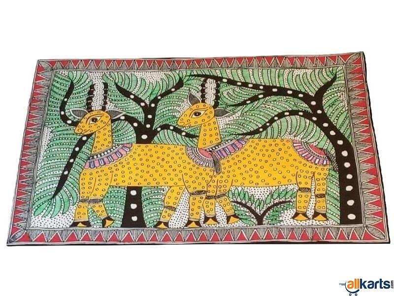 Madhubani Painting of Deer