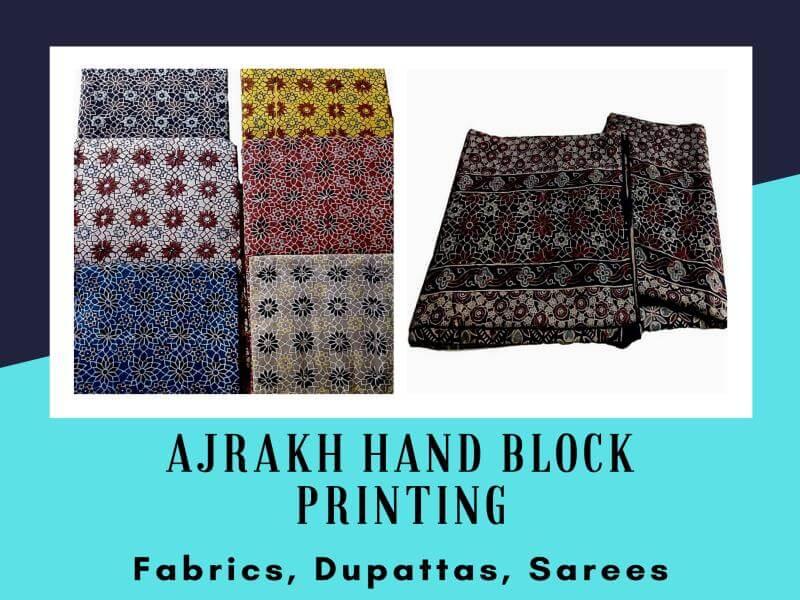 Ajrakh Hand Block Printing