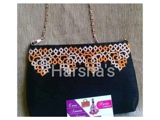 Tatting (Knotted Lace) Sling Bag