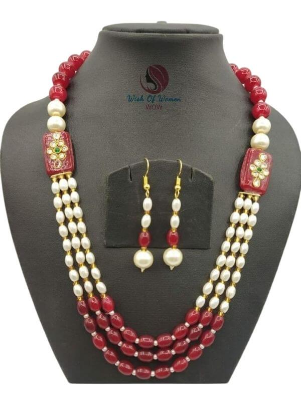 Glass Beads Jewellery Set