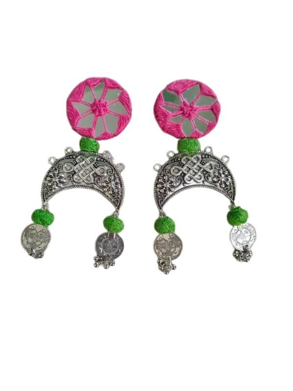 Mirror Work Earrings
