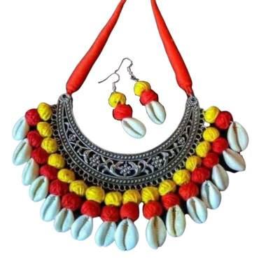 Kori and Cotton Beads Jewellery Set
