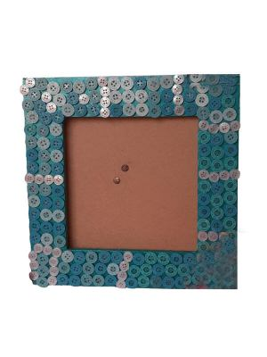 MDF Board Photo Frame Decorated with Buttons