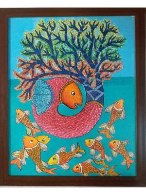 Gond Painting of Fish