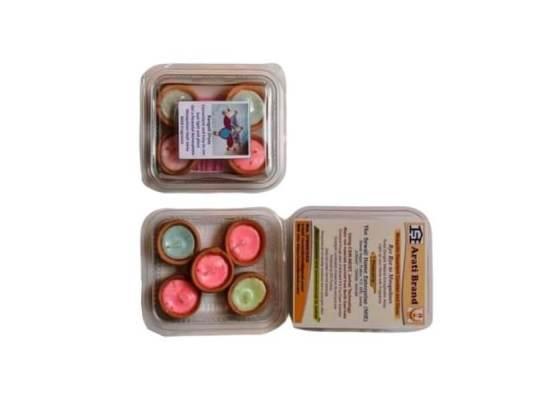 Pack of 5 Paraffin Wax Herbal Aroma Diya Candles