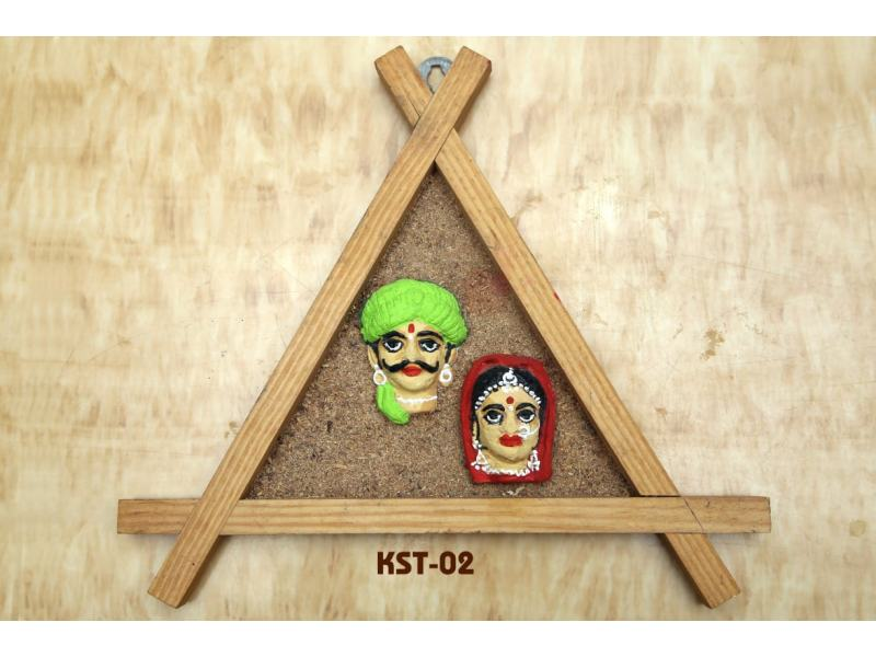 Clay Mural on Wooden Frame (Height: 6 Inches)
