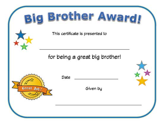 Best Big Brother Diploma