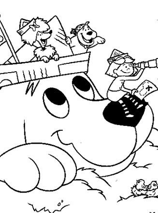 Clifford Coloring Page Clifford Coloring Page All Kids Network